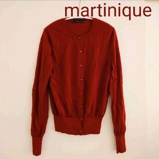 martinique Le Conte - マルティニーク クルーネックカーディガン ウール 赤 レッド