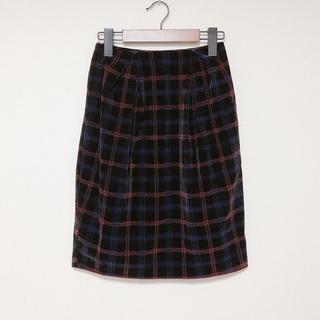 ケービーエフ(KBF)の新品 KBF チェックベロアコクーンスカート(ひざ丈スカート)