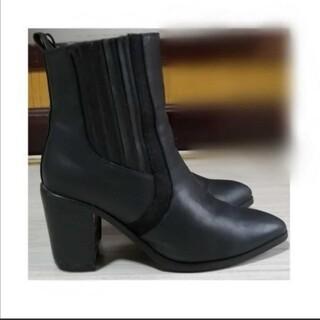 デュラス(DURAS)のDURAS ブーツ 中古 太ヒール 黒 ブラック デュラス 黒(ブーツ)