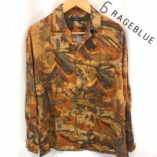 レイジブルー(RAGEBLUE)のRAGEBLUE 総柄 オープンカラー シャツ 長袖 M(シャツ)