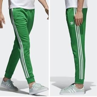 adidas - スーパースター カフ トラックパンツ XLサイズ 緑 グリーン ジャージ レア
