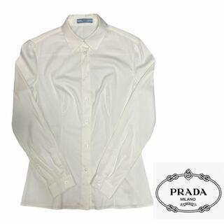 プラダ(PRADA)のPRADA プラダ シャツ プレーン ドレス シェイプ 美品 レギュラーカラー(シャツ/ブラウス(長袖/七分))