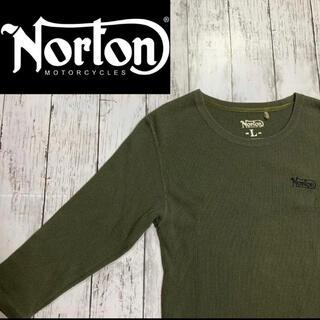 Norton - 【Norton】ノートン サーマルカットソー 七分袖 ワンポイントロゴ 日本製