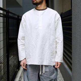 コモリ(COMOLI)のETS.MATERIAUX マテリオ ヘンリーネック スリーピングシャツ(カットソー(長袖/七分))