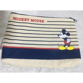 ミッキーマウス - ディズニー ミッキーマウス ポーチ 生成り 新品 ノベルティ