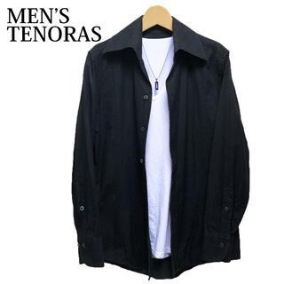 メンズティノラス(MEN'S TENORAS)のMEN'S TENORAS 長袖シャツ 黒 シンプル ワイドカラーシャツ(シャツ)