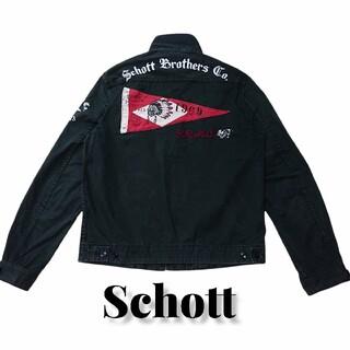 schott - Schott 薄手ジャケット ショット スイングトップ 古着 プリント ワッペン
