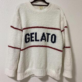 gelato pique - ジェラートピケ ジェラートロゴトップス 部屋着 ルームウェア もこもこ