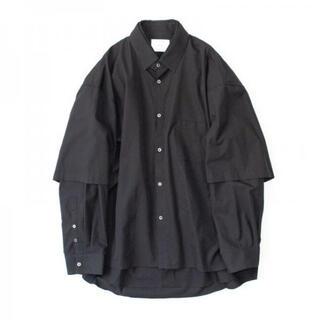 サンシー(SUNSEA)のOVERSIZED DOUBLE SLEEVE SHIRT・BLACK(シャツ)