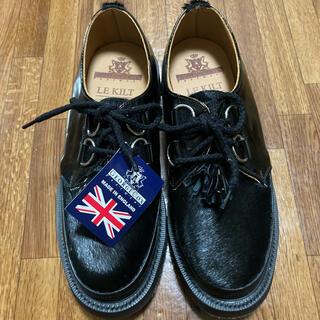 ジョージコックス(GEORGE COX)のgeorge cox ハラコ ラバーソール SIZE6 ブラック ポニー(ローファー/革靴)