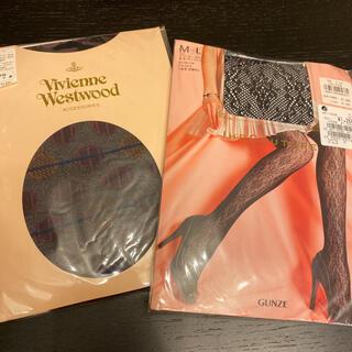 ヴィヴィアンウエストウッド(Vivienne Westwood)のタイツ ブラック ヴィヴィアンウエストウッド グンゼ(タイツ/ストッキング)