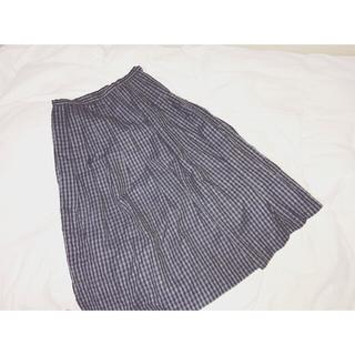 ロキエ(Lochie)のお値下げNG 🙇 ロキエ 💘 古着 チェック ロングスカート(ロングスカート)