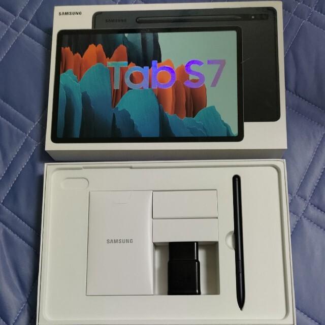 SAMSUNG(サムスン)のSamsung Galaxy Tab S7 256GB 美品 キーボード付 スマホ/家電/カメラのPC/タブレット(タブレット)の商品写真