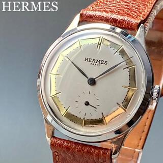 エルメス(Hermes)の動作良好★エルメス アンティーク 腕時計 手巻き メンズ ラウンド型(腕時計(アナログ))