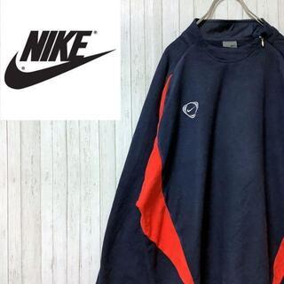 ナイキ(NIKE)のナイキ NIKE フリースジャケット スウェット 刺繍ロゴ ネイビー L(その他)
