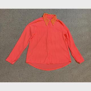 ネオンカラーピンク シャツ(シャツ/ブラウス(長袖/七分))