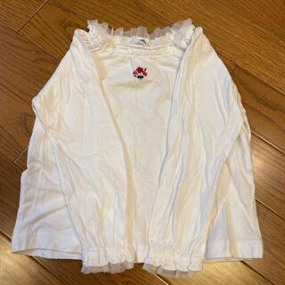 familiar - familiar トップス ロンT チュール 刺繍 美品 90 ファミリア