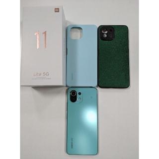 Xiaomi mi11 lite 5G ミントグリーン 国内版 SIMフリー(スマートフォン本体)