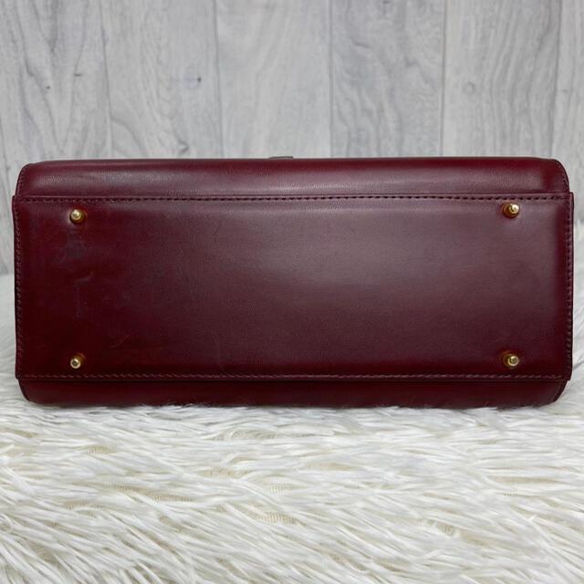valentino garavani(ヴァレンティノガラヴァーニ)の美品♡ヴィンテージ♡ヴァレンティノ ガラバーニ レザー 2wayバッグ ボルドー レディースのバッグ(ショルダーバッグ)の商品写真