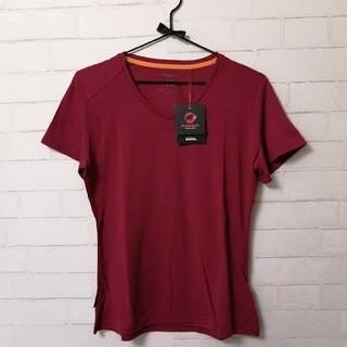 マムート(Mammut)の【新品】MAMMUT Alvra T-Shirt Womens アジアL えんじ(登山用品)