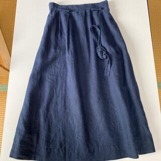 coen - コーエン リネン100% ネイビースカート 美品