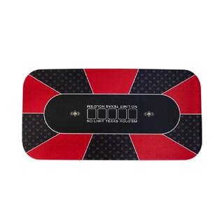 ポーカーマット ラバーフォームカジノマット 120×60cm レッド(トランプ/UNO)