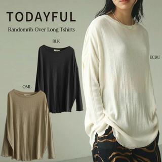 トゥデイフル(TODAYFUL)のtodayful ランダムリブオーバーロンT(Tシャツ(長袖/七分))