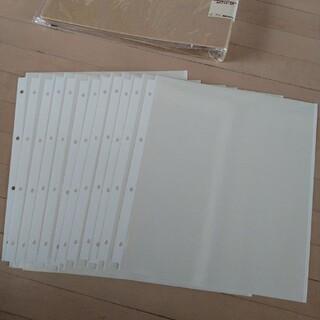 ムジルシリョウヒン(MUJI (無印良品))の無印 アルバムバインダー A4ワイド・4穴(ファイル/バインダー)