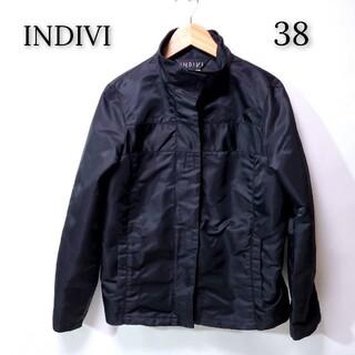 インディヴィ(INDIVI)の【美品♪】INDIVI インディヴィ ナイロン ジャケット ブラック(その他)