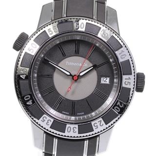 ティファニー(Tiffany & Co.)のティファニー マーク T-57 デイト T-57 クォーツ メンズ 【中古】(腕時計(アナログ))