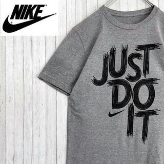 NIKE - NIKE ナイキ Tシャツ ビッグプリント ビッグロゴ ライトグレー 半袖