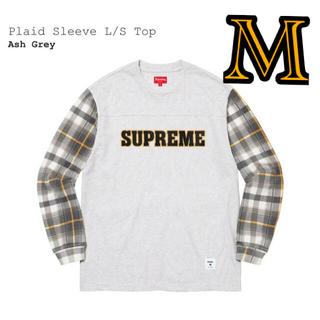 "Supreme - Supreme Plaid Sleeve L/S Top ""Ash Grey""M"