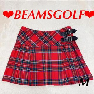 BEAMS - ビームスゴルフ 赤チェックスカート M ゴルフ レディース BEAMSGOLF