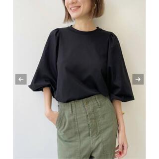 アパルトモンドゥーズィエムクラス(L'Appartement DEUXIEME CLASSE)の黒 L'Appartement Gather Long sleeve Tee (Tシャツ/カットソー(七分/長袖))