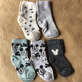 エイチアンドエム(H&M)のH&M ソックス ベビー靴下 9㎝ セット ミッキーマウス ディズニー(靴下/タイツ)