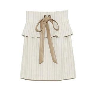 リリーブラウン(Lily Brown)の未使用☆リリーブラウンペプラムベルト付きタイトスカート(ひざ丈スカート)