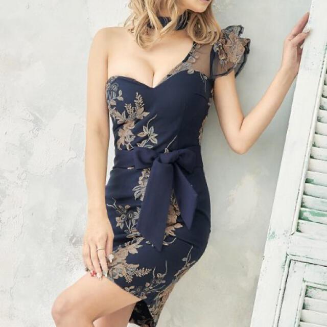 JEWELS(ジュエルズ)のキャバドレス/ワンショルダー/ミニドレス/タイトドレス/xsサイズ レディースのフォーマル/ドレス(ナイトドレス)の商品写真