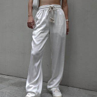 アリシアスタン(ALEXIA STAM)のaclent Waist rope satin pants(カジュアルパンツ)