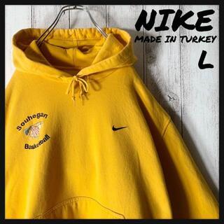 NIKE - 【トルコ製 海外企画 L】ナイキ NIKE 刺繍 カレッジ スウェット パーカー