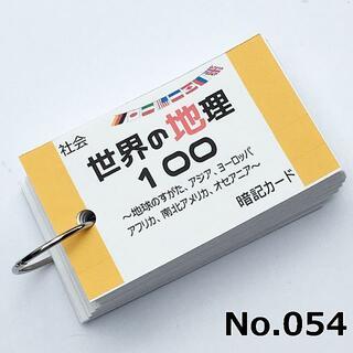【054】社会 世界の地理100 暗記カード(語学/参考書)