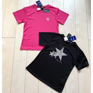 コンバース(CONVERSE)の新品 converse 吸水速乾 UVカット Tシャツ 半袖 レディース M(Tシャツ(半袖/袖なし))