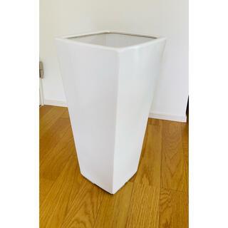 鉢カバー 特大 大型 陶器 白 サイズ57×29×17(プランター)