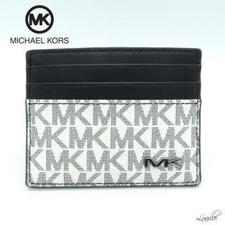 マイケルコース(Michael Kors)の❤︎新品/即発❤︎マイケルコース メンズ カードケース WHITE(名刺入れ/定期入れ)
