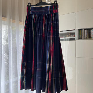BEAMS BOY - ビームスボーイ タータンチェック ロングスカート