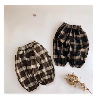 ザラキッズ(ZARA KIDS)の韓国子供服 ネルシャツ生地 パンツ 3T(パンツ/スパッツ)