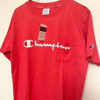 Champion - Champion チャンピオン Tシャツ ピンク ロゴ ポケット 男女兼用 M