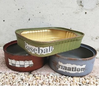 多肉植物 リメイク缶 リメ缶 3個セット(プランター)