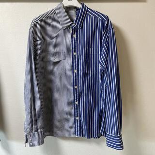 サカイ(sacai)のsacai サカイ ストライプシャツ ブルー系 1サイズ 美品(シャツ)