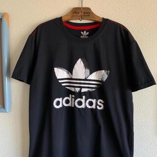 adidas - adidas トレフォイル 半袖Tシャツ デカロゴ プリントTシャツ 立体 3D
