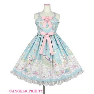 アンジェリックプリティー(Angelic Pretty)のうさぎのPicnic Party ジャンパースカートset(ひざ丈ワンピース)
